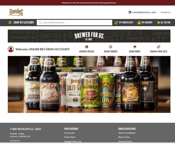 Founders custom site