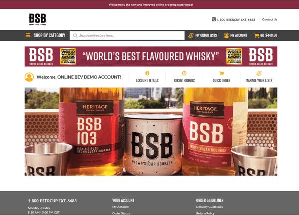 Heritage Distilling Co. Custom Website