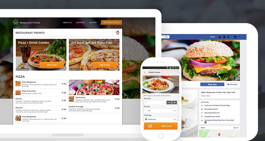 Free online ordering set-up