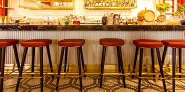 Barstools at an empty bar