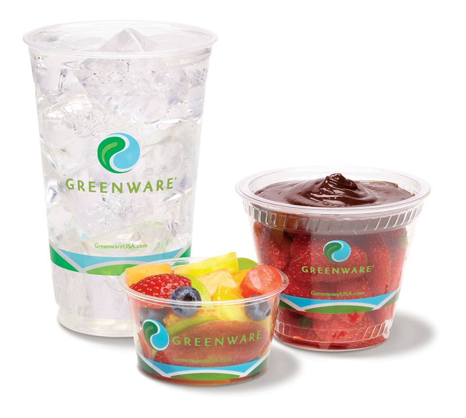 Three Greenware cups