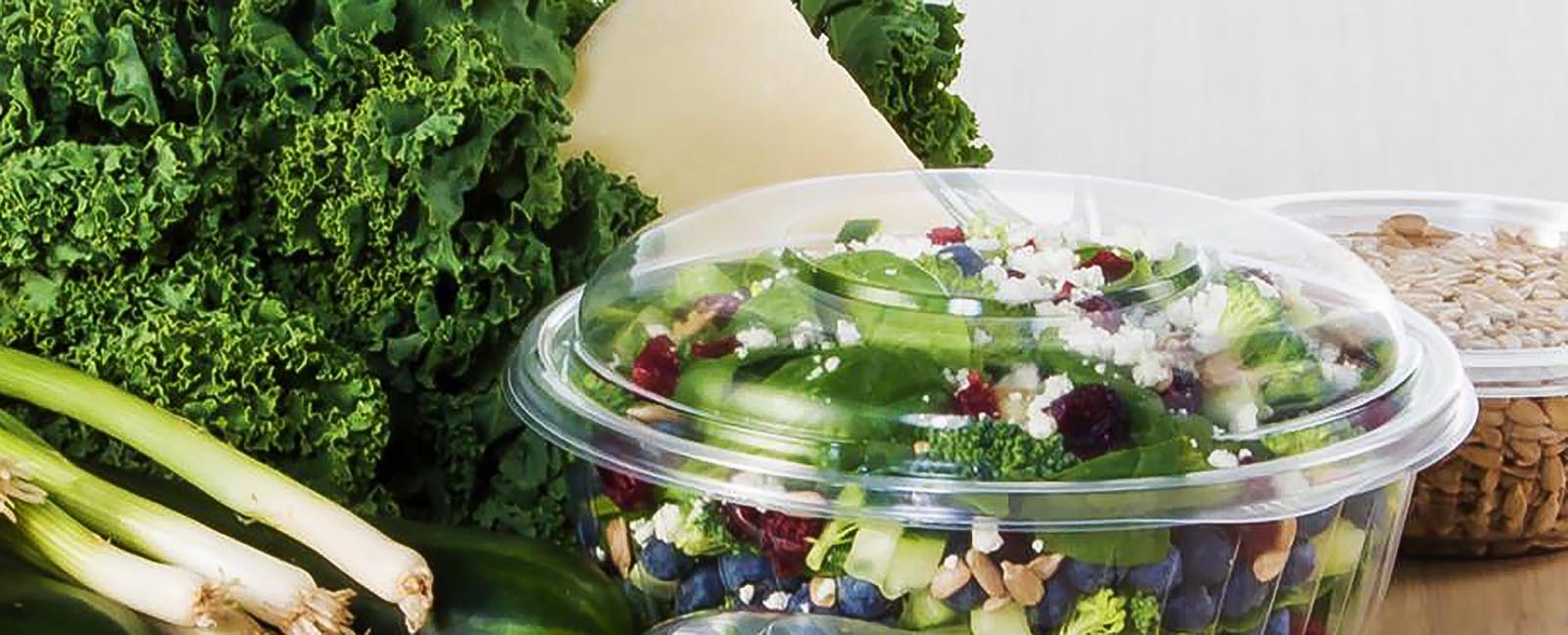Salad in to go container